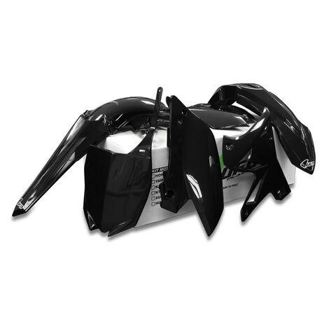 _UFO Plastik Kit Yamaha YZ 125/250 02-14 Restyling Schwarz | YAKIT312-001 | Greenland MX_