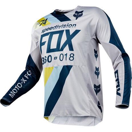 _Fox 360 Draftr Jersey Grau/Blau   19418-097-P   Greenland MX_