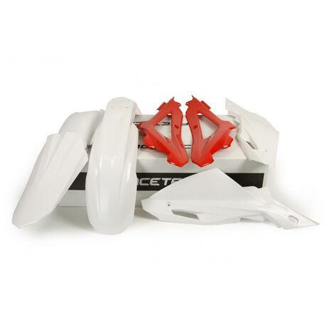 _Race Tech Plastik Kit Husqvarna CR/WR 125 09-10 Weiß/ Rot | RKITHSQ-OEM-405 | Greenland MX_