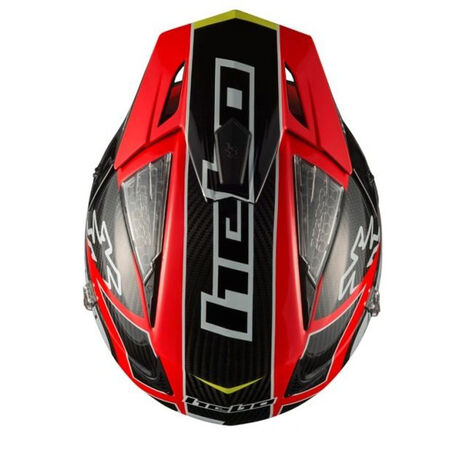 _Trial Helm Hebo Zone 4 Carbon Rot | HC1061R | Greenland MX_
