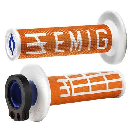 _ODI Emig V2 Lock-On Griffe 4T Orange/WeiB | H34EMOW | Greenland MX_