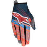 _Alpinestars Radar Tracker Kinder Handschuhe Petrol/Orange Fluo/Blau | 3541917-7074 | Greenland MX_
