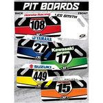 _Pit Board-Holzschildern TJ Kawasaki Racing   TJBANKW   Greenland MX_