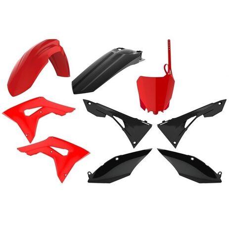 _Plastik Kit Polisport Honda CRF 250 R 18-19 CRF 450 R 17-19 Rot/Schwarz | 90833 | Greenland MX_