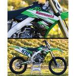 _TJ Kühlerflügel Aufkleber Kit Kawasaki KX 450 F 09-11 | KKXF45009 | Greenland MX_