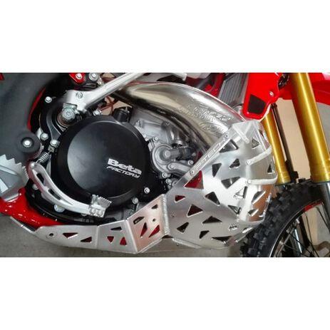 _Motorschutzplatte mit Auspuff  Schutzkappe P-Tech  Beta RR 250/300 13-19 | PK002 | Greenland MX_