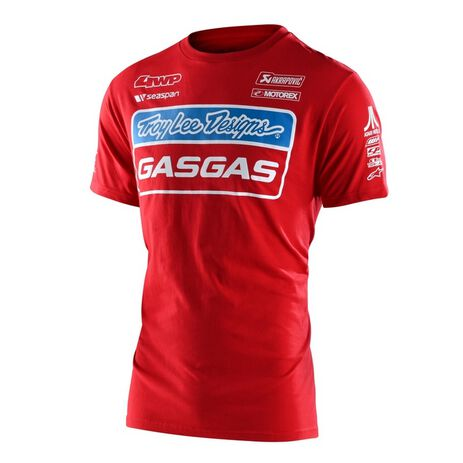 _T-Shirt rTroy Lee Designs Gas Gas Team Rot | 701318002-P | Greenland MX_