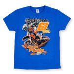 _Jorge Prado Action T-Shirt Blau | JP61-200BL | Greenland MX_