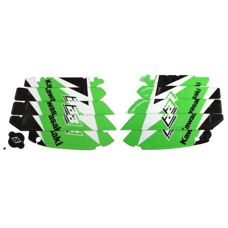 _Schwarz bird Kühlergitter Aufkleber Kit Kawasaki KX 250 F 09-16 | A402E | Greenland MX_
