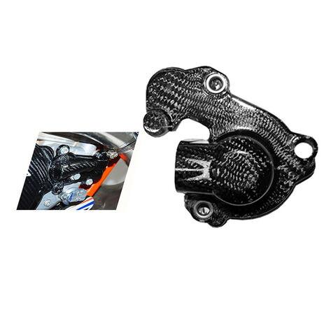 _4MX Carbon Cover Wasserpumpe KTM EXC 250/300 04-16 SX 250 03-16 Husqvarna TE 250/300 14-16    4MX12.09   Greenland MX_