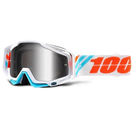 _100% Racecraft Brille Calculus Ice Spiegel Silver | 50110-205-02 | Greenland MX_