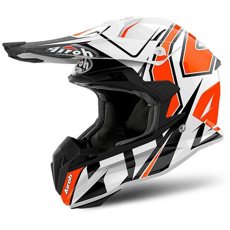 _Airoh Terminator Open Vision Shock Orange Gloss Helm 2018 | TOVSH32 | Greenland MX_