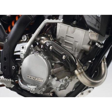 _Carbon Krümmerschutz 4 Takt KTM EXC-F 250 2014 EXC-F 350 12-14 SX-F 350 11-12 | SXS10450535 | Greenland MX_