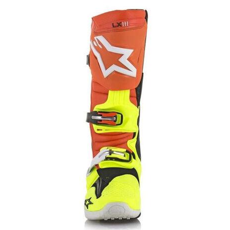 _Alpinestars Tech 10 Stiefel Orange/Gelb Fluo/Blau | 2010014-475 | Greenland MX_