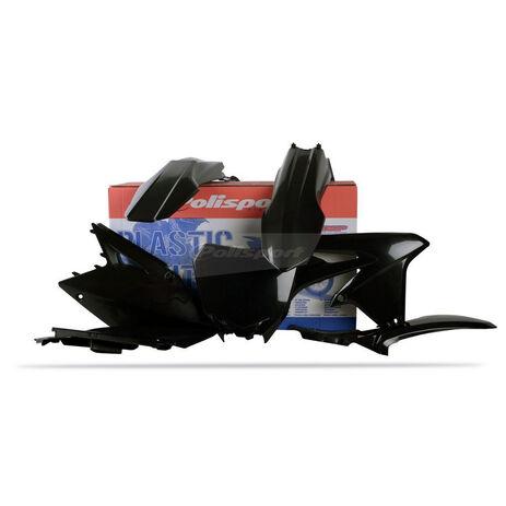 _Polisport Plastik Kit Suzuki RMZ 450 08-17 Schwarz | 90146 | Greenland MX_