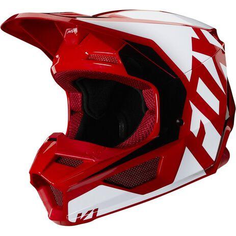 _Fox V1 Prix Kinder Helm Rot Flame | 25478-122 | Greenland MX_