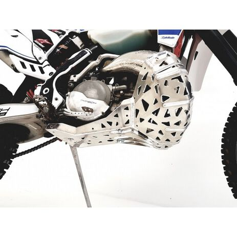 _Motorschutzplatte mit Auspuff  Schutzkappe P-Tech  KTM EXC 250/300 07-16 HVA TE 250/300 14-16   PK001   Greenland MX_