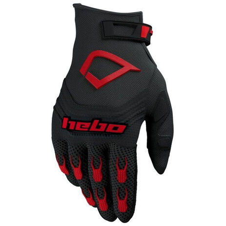 _Handschuhe Hebo Baggy Evo Schwarz/Rot | HE1128R | Greenland MX_