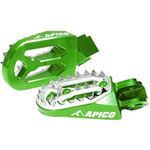 _Enduro Apico Pro-bite Fussrasten Kawasaki KX 250 F 06-16 KX 450 F 07-16 Grün | AP-FPROKXVE | Greenland MX_