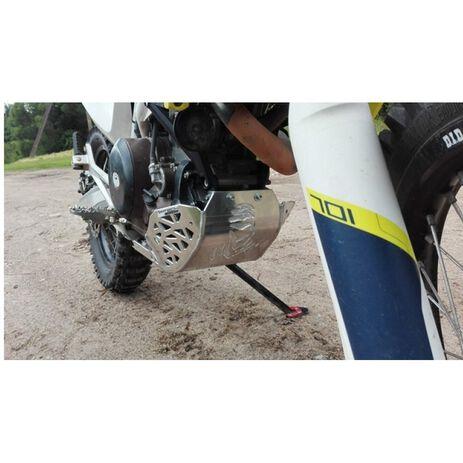 _mit Auspuff SchutzMotorschutzplatte mit Auspuff Schutzkappe und Umlenkhebelschutz  P-Tech KTM 690 End. 08-19 HVA 701 End. 14-19 | PK010 | Greenland MX_