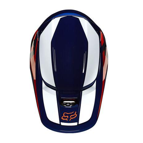 _Fox V1 Prix Helm Orange/Blau | 25471-592 | Greenland MX_