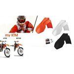 _4MX Kotflügel Adapter Set KTM EXC 08-13 SX 07-12 a 2014 Weiß | KT-AGD-KTMW | Greenland MX_