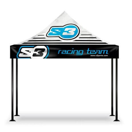 _S3 Racing Team Zelt 3 x 3 Schwarz | V-100 | Greenland MX_